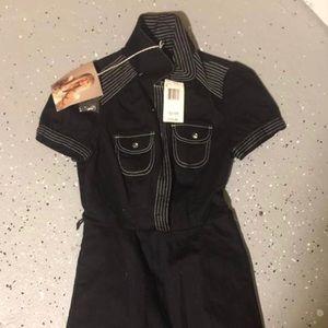 Betsy Johnson-shirt dress mini